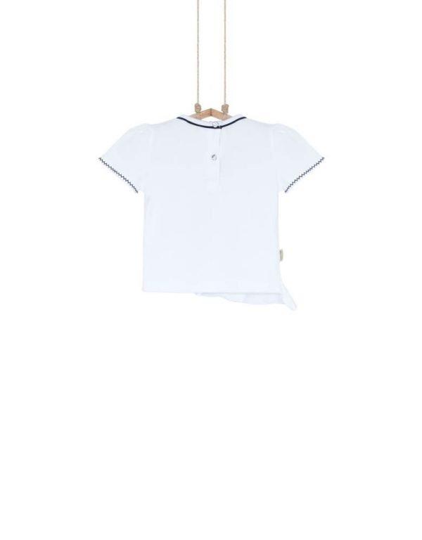 biele detské tričko biobavlna