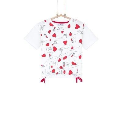 dievčenské tričko so srdiečkami