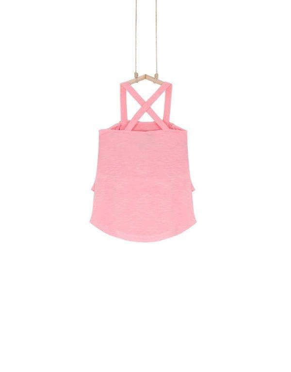 tričko na ramienka ružové 140 152