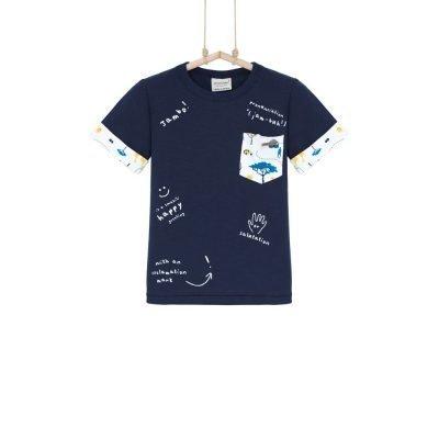 tričko chlapčenské modré