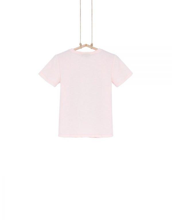 chlapčenské tričko koralové