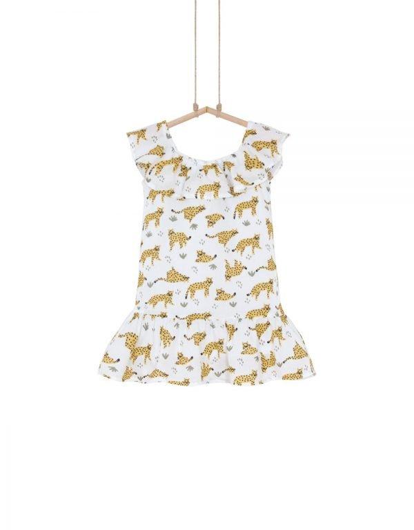 detské šaty leopard