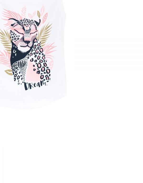 tielkové tričko leopard