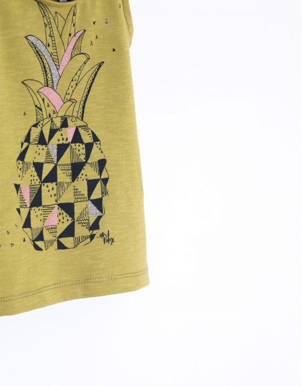 tričko dievčenské olivové