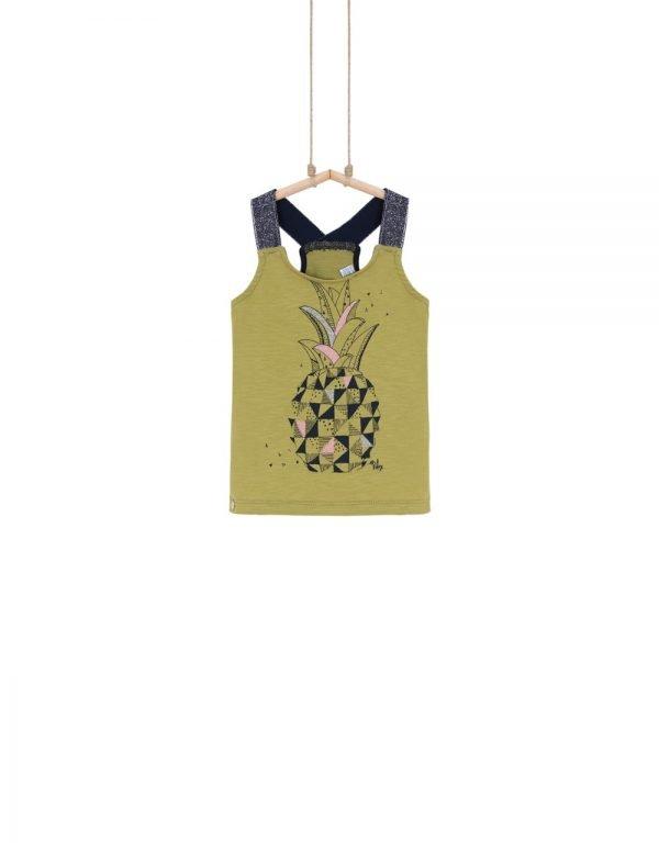 tričko olivové dievčenské Bebakids