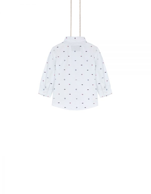 detská košeľa biela vzor