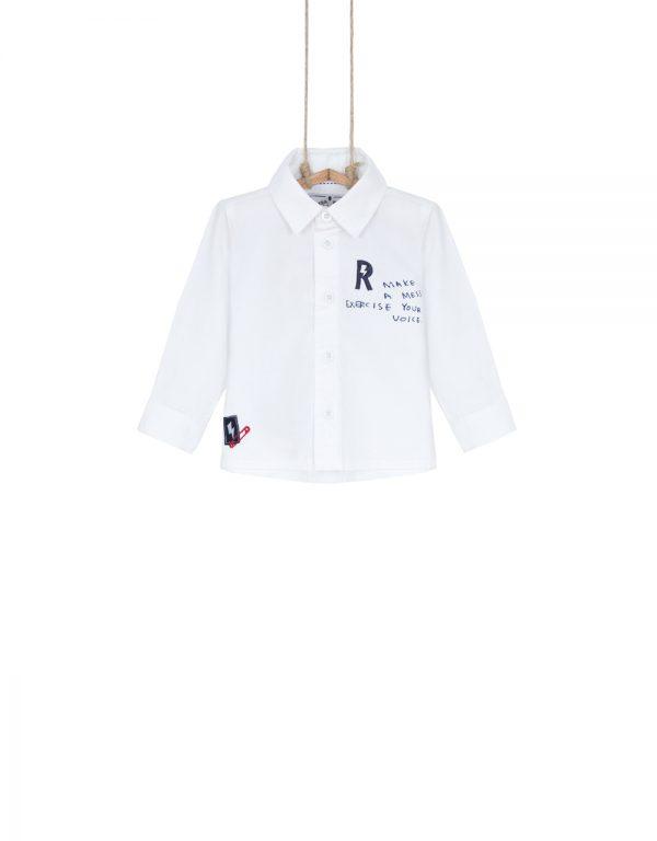 chlapčenská košeľa biela