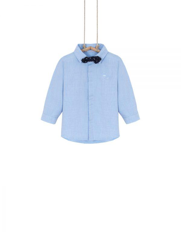 chlapčenská košeľa modrá