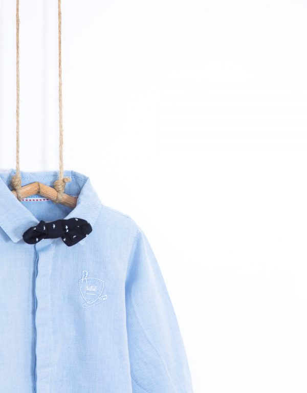 chlapčenská košeľa s motýlikom