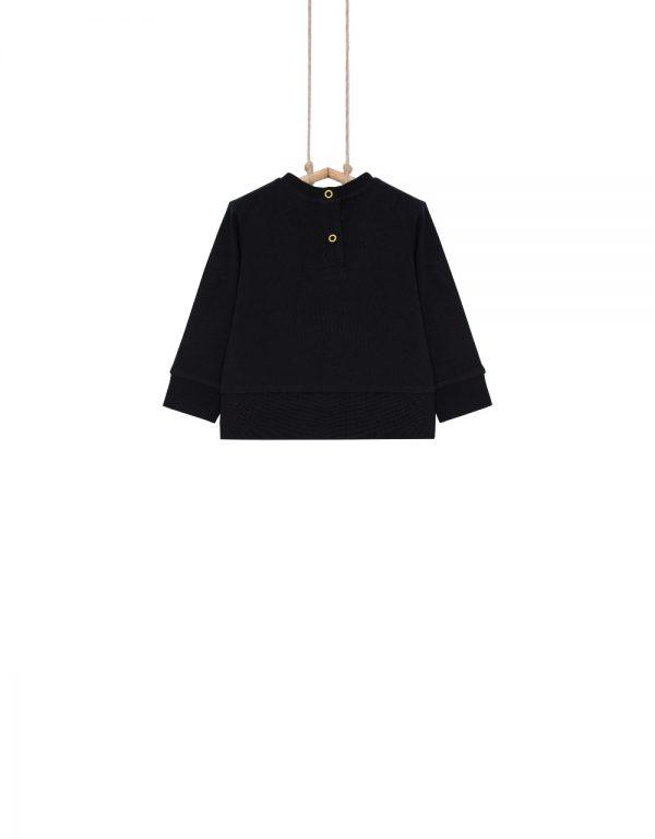 dojčenské tričko čierne