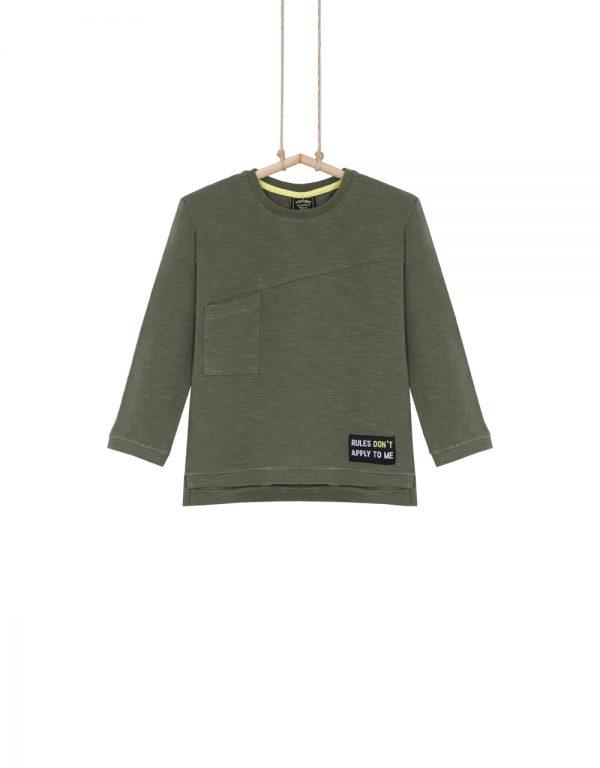 chlapčenské tričko olivové