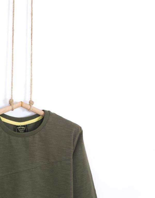 tričko pre chlapca olivové
