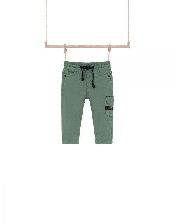 chlapčenské nohavice olivové