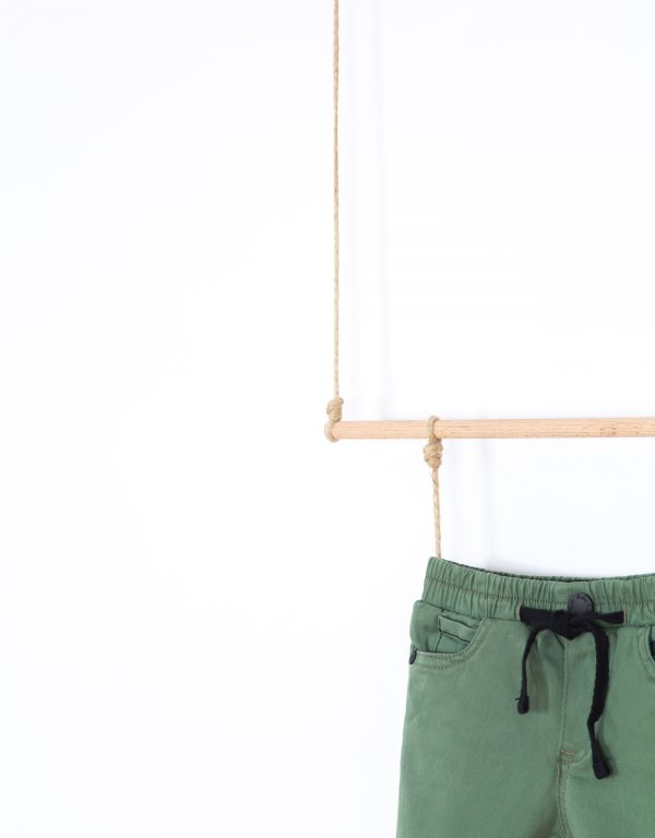 nohavice na gumu olivové