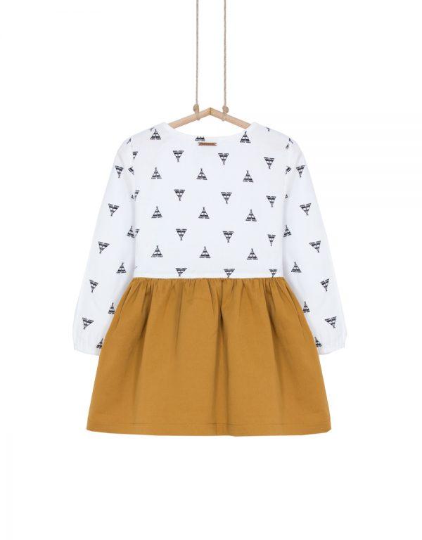 dievčenské šaty horčicové