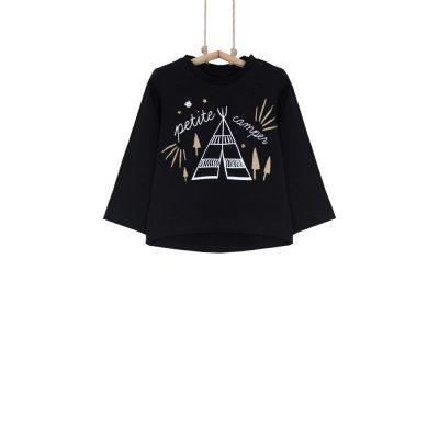 tričko pre dievčatko čierne