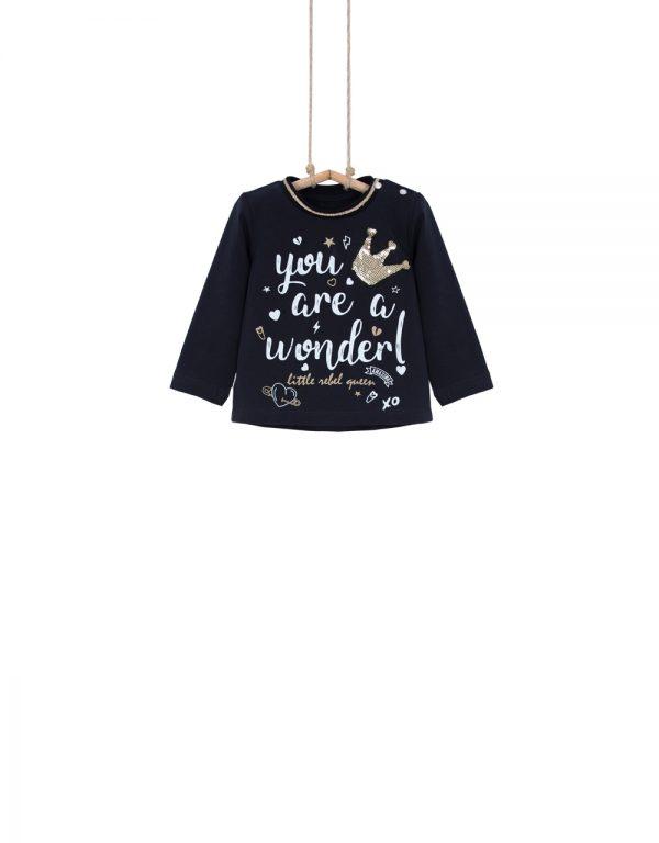 dievčenské tričko s flitrami
