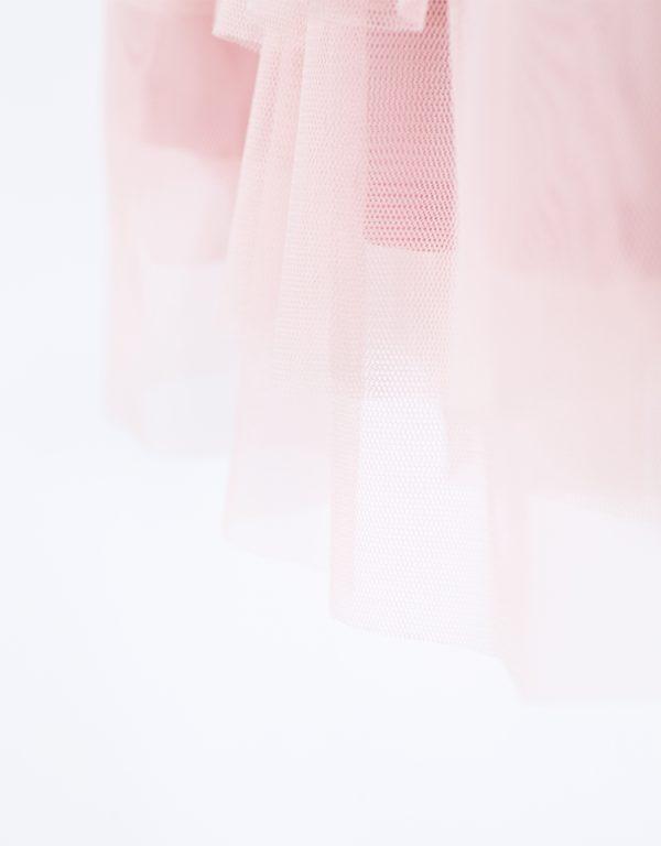 tylová suknička ružová