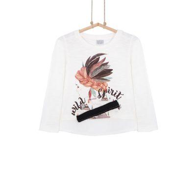 dievčenské tričko s potlačou