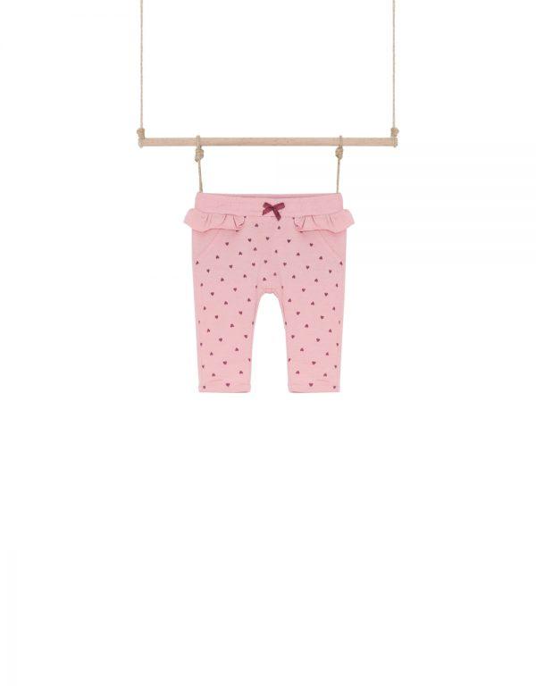 tepláky pre bábätko ružové