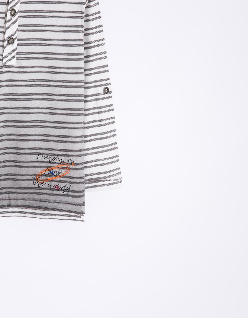 chlapčnenské tričko vyhrňovací rukáv