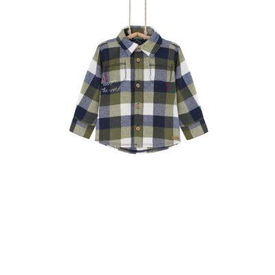 chlapčenská košeľa károvaná