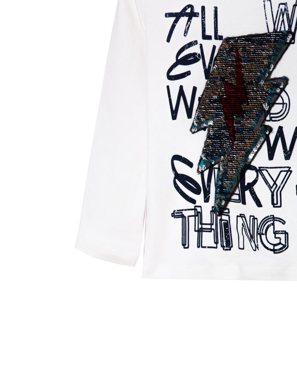 chlapčenské tričko s flitrami