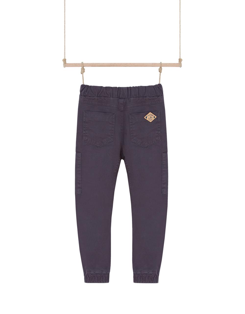 chlapčenské nohavice sivé