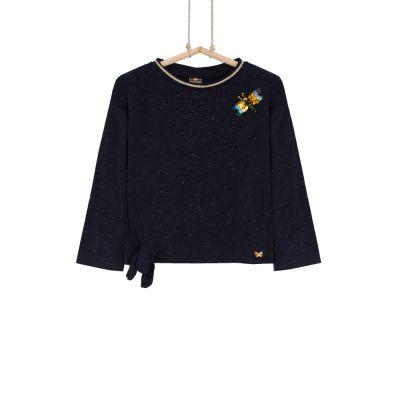 dievčenské tričko čierne