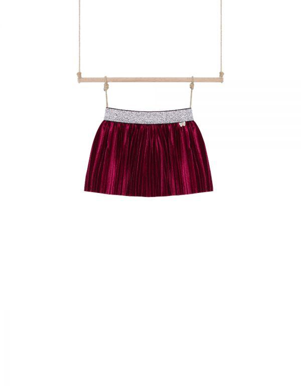 dojčenská sukňa zamatová