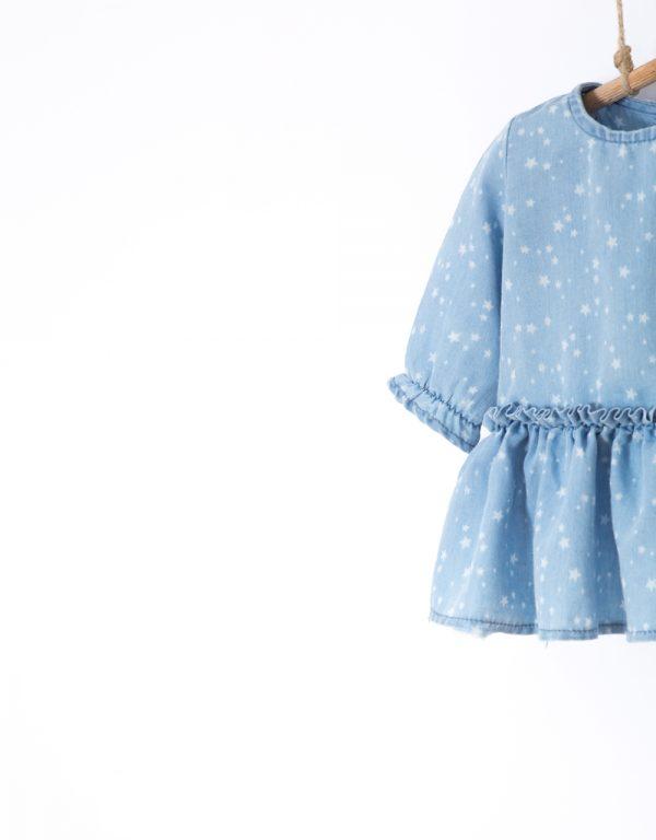 dojčenské šaty s body modré