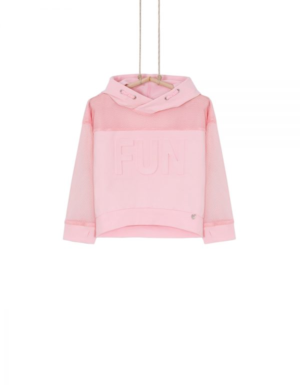 ružová mikina pre dievča