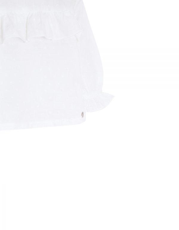 biela dievčenská košeľa