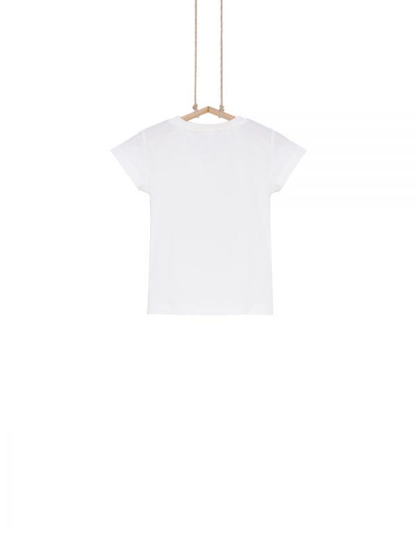 dievčenské tričko biele