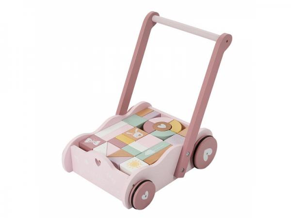 ružový vozík Little Dutch
