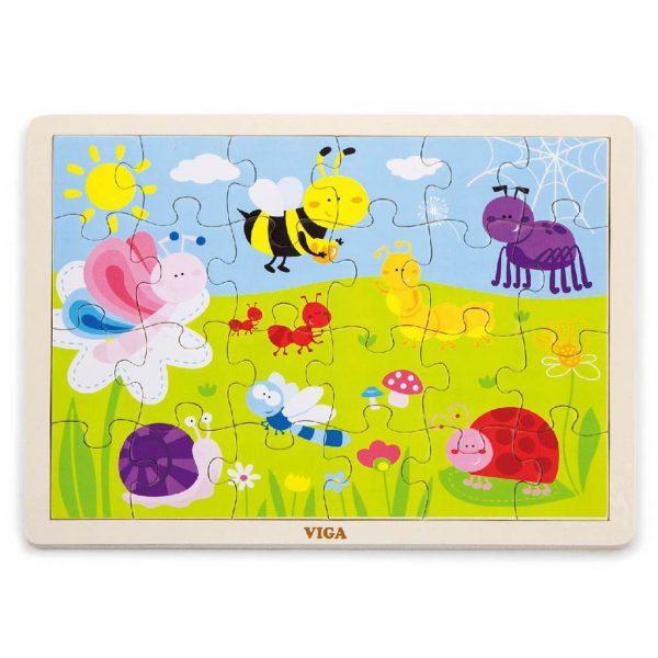 drevené puzzle 24 diel