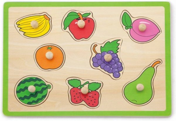 drevené puzzle ovocie