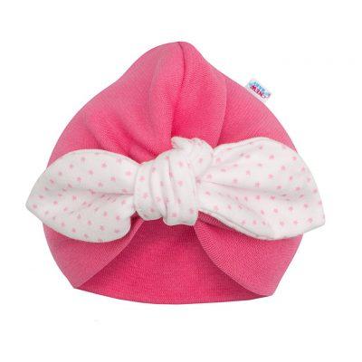 Dievčenská čiapočka turban New Baby For Girls dots