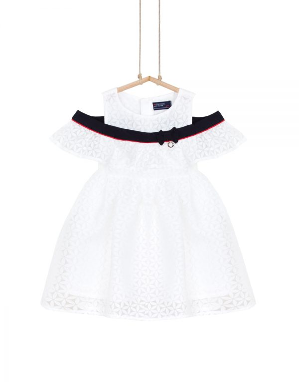 dievčenské šaty biele