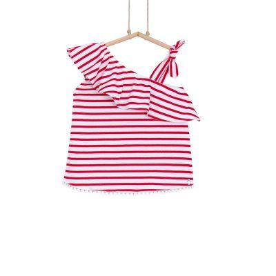 dievčenské tričko s volánom