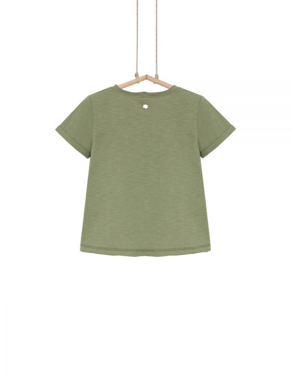 dievčenské tričko olivové