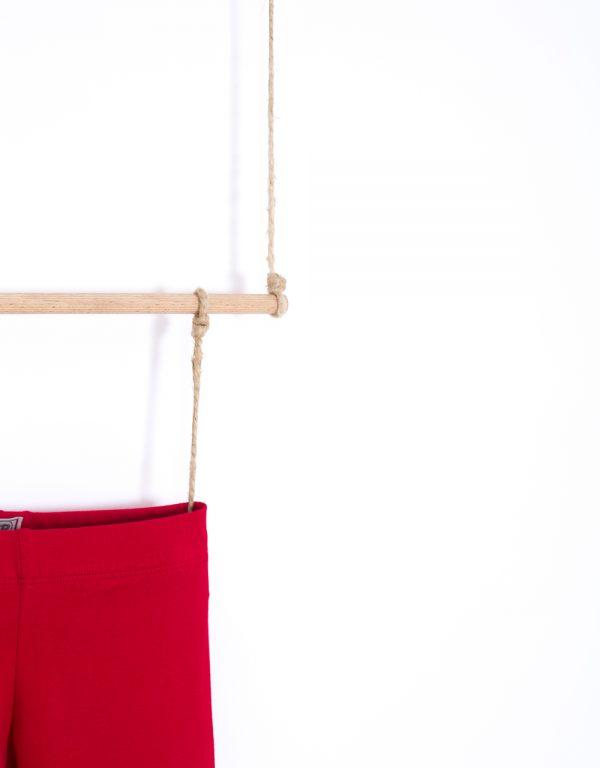 bavlnené legíny červené
