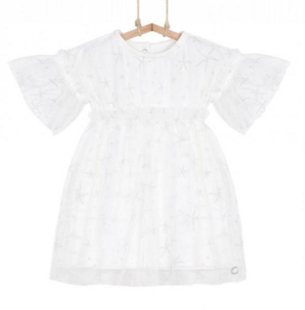 biele šaty na krstiny