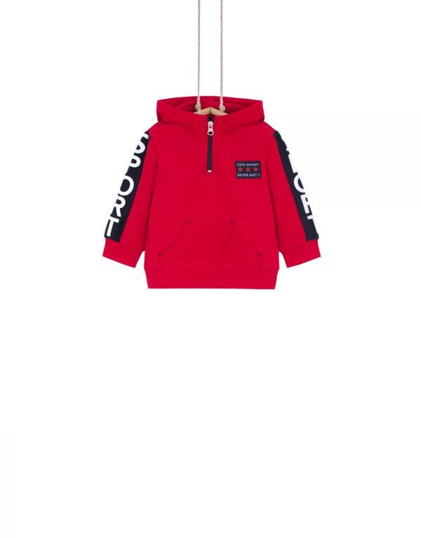červená mikina 86 92 98