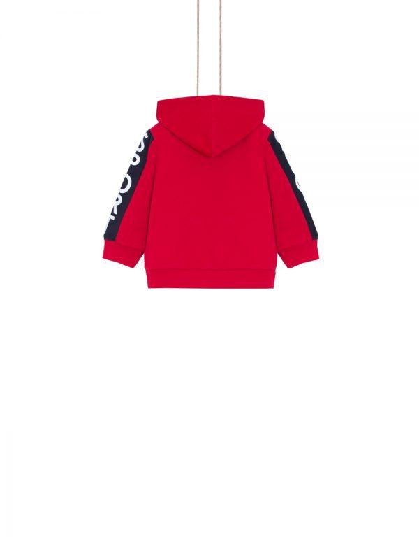 červená mikina pre chlapcov