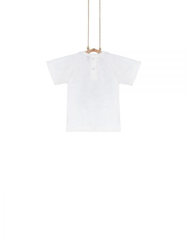 chlapčenské tričko biele