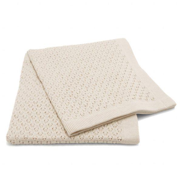 pletená detská deka kapučíno