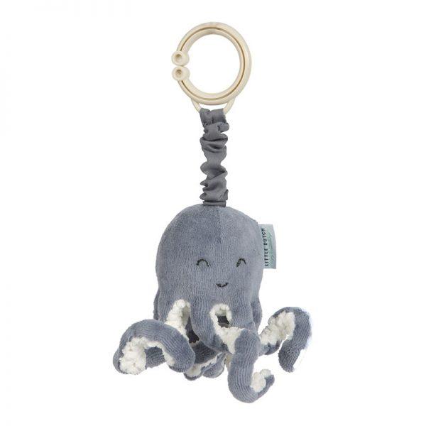 LITTLE DUTCH Vibrujúca chobotnica Ocean Blue