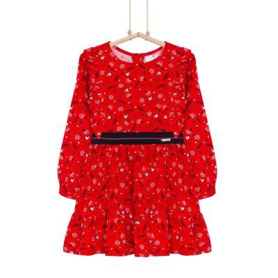 dievčenské šaty s volánmi