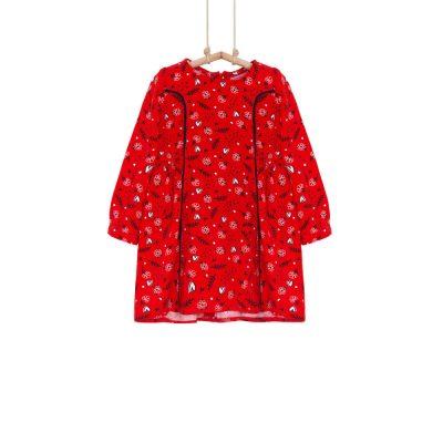 dievčenské šaty červené